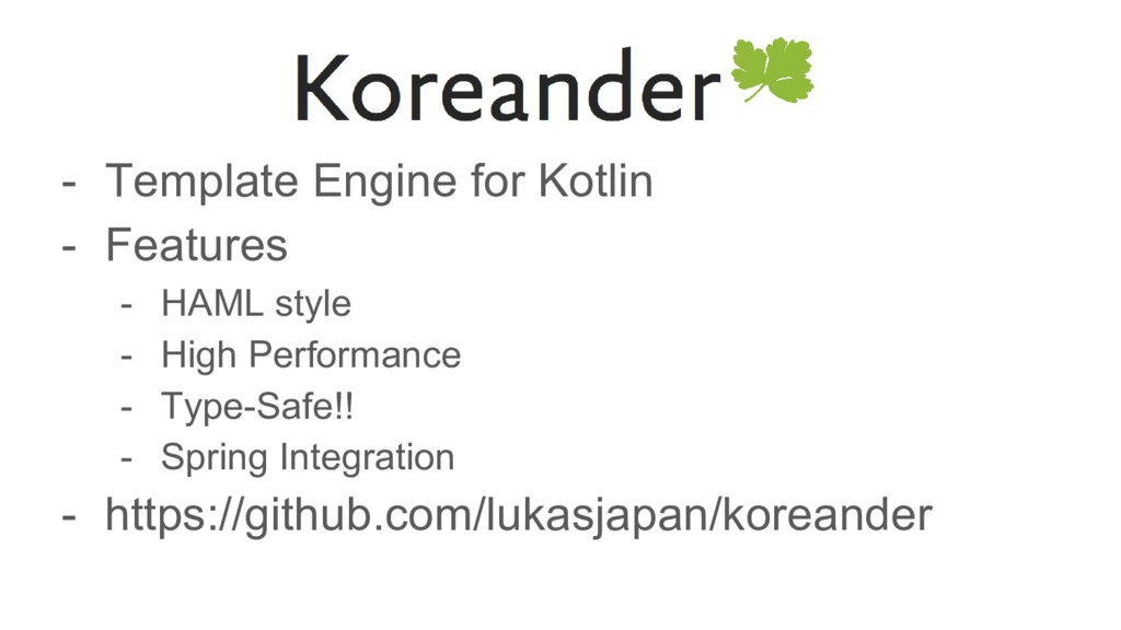 - Template Engine for Kotlin - Features - HAML ...