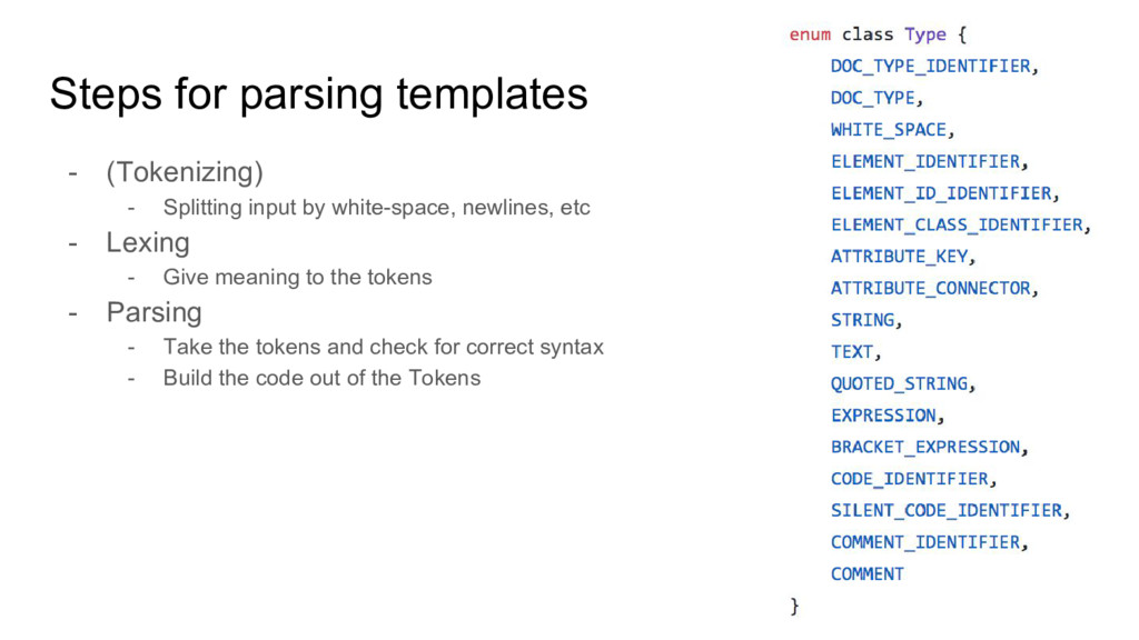 Steps for parsing templates - (Tokenizing) - Sp...