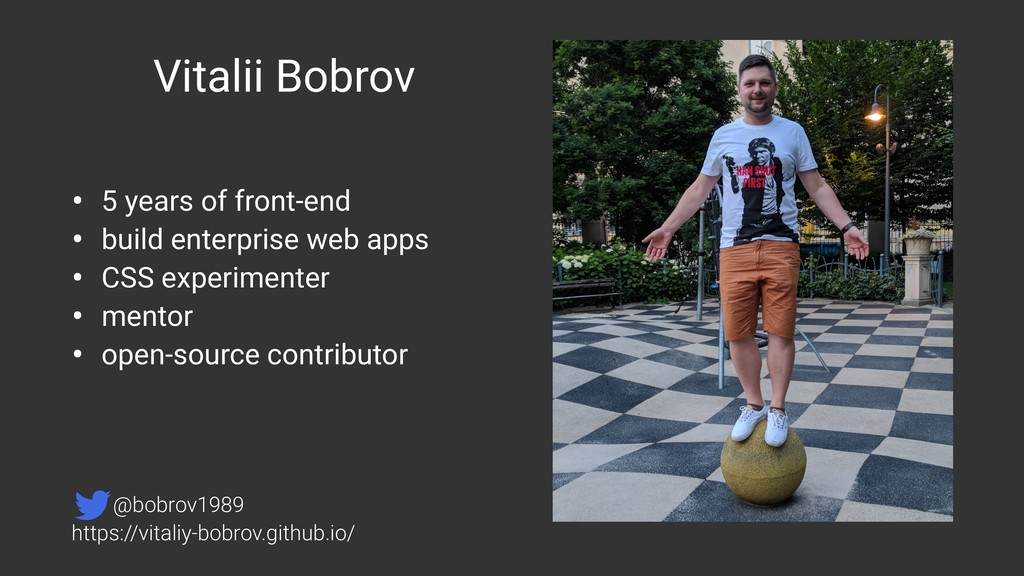 Vitalii Bobrov • 5 years of front-end • build e...