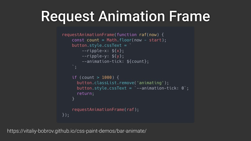 Request Animation Frame https://vitaliy-bobrov....