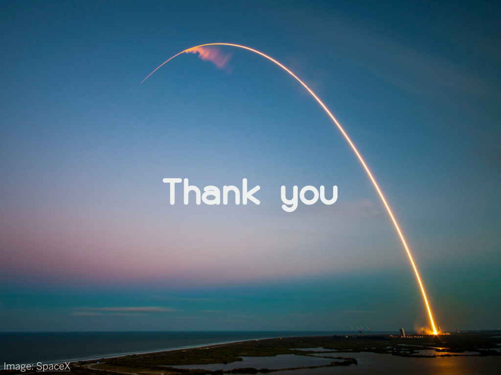 Thank you Image: SpaceX