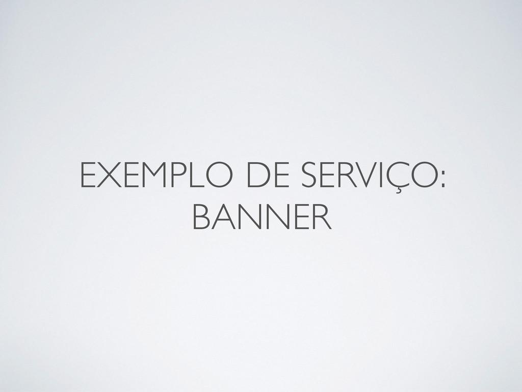 EXEMPLO DE SERVIÇO:   BANNER