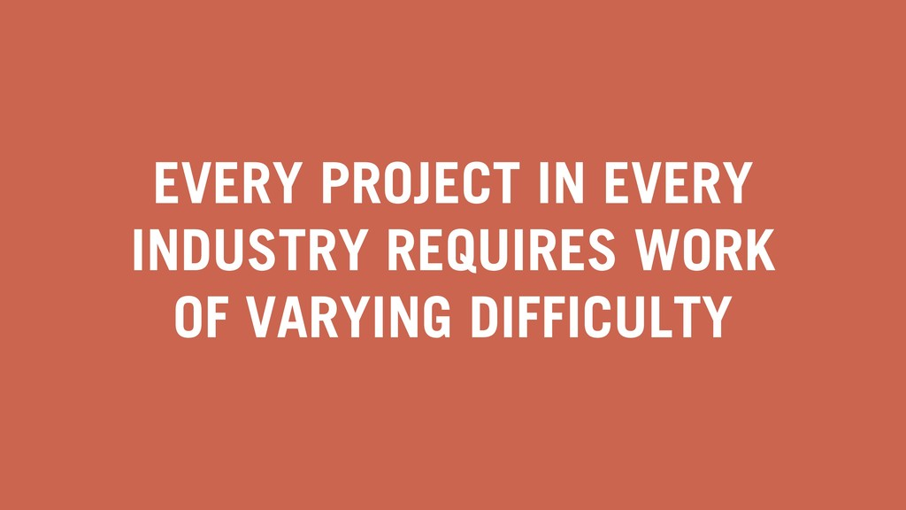 EVERY PROJECT IN EVERY INDUSTRY REQUIRES WORK O...