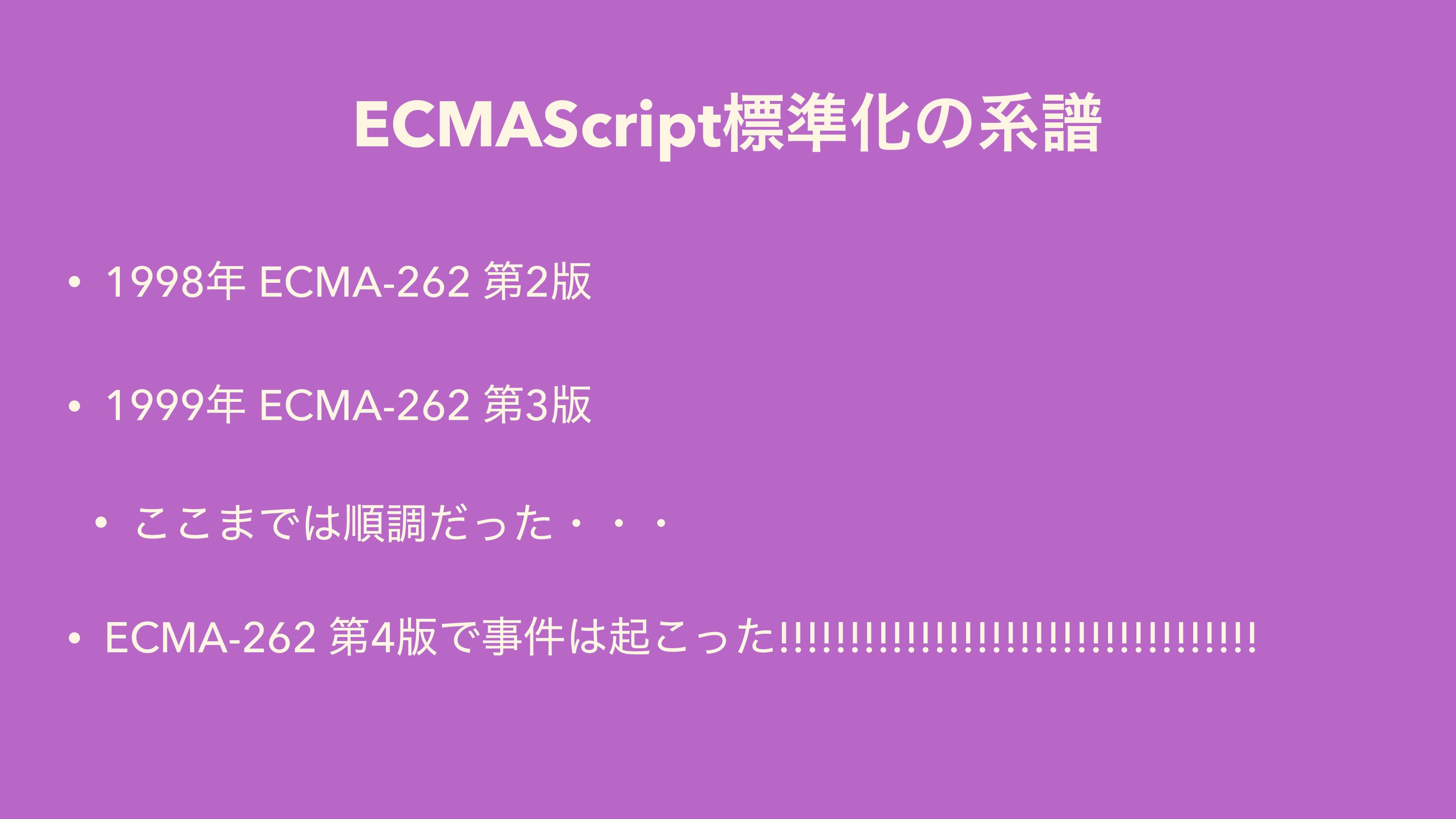 ECMAScriptඪ४Խͷܥේ • 1998 ECMA-262 ୈ2൛ • 1999 E...