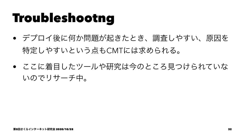 Troubleshootng • σϓϩΠޙʹԿ͔͕ى͖ͨͱ͖ɺௐ͍ࠪ͢͠ɺݪҼΛ ಛఆ...