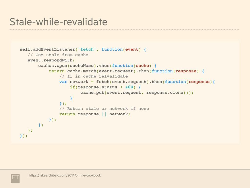 Stale-while-revalidate self.addEventListener('f...