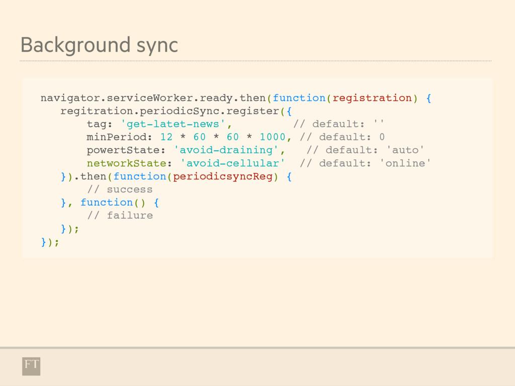 Background sync navigator.serviceWorker.ready.t...