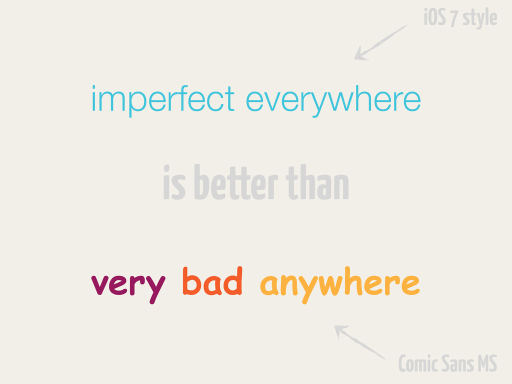 imperfect everywhere is better than very bad an...