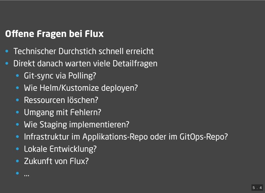 / Offene Fragen bei Flux • Technischer Durchstic...