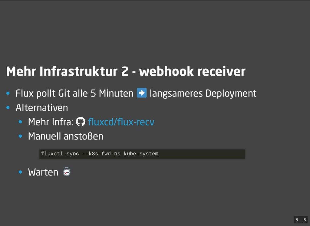 / Mehr Infrastruktur 2 - webhook receiver • Flu...