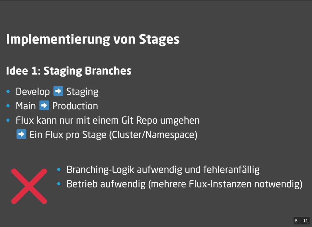 / Implementierung von Stages Idee 1: Staging Br...