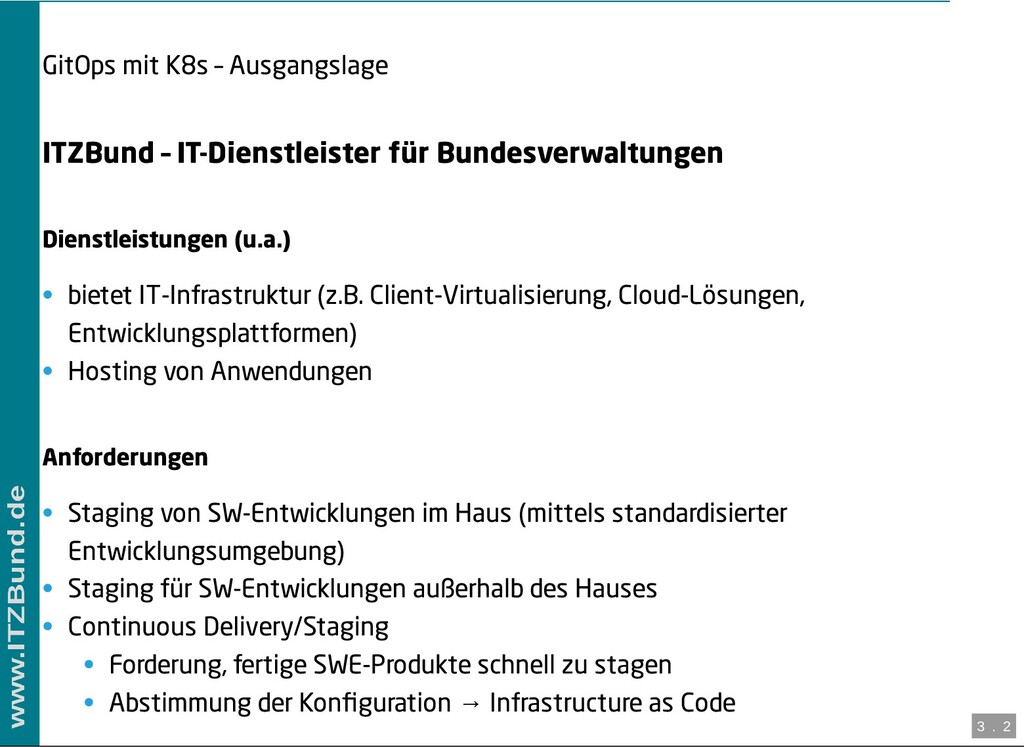 / GitOps mit K8s – Ausgangslage ITZBund – IT-Di...