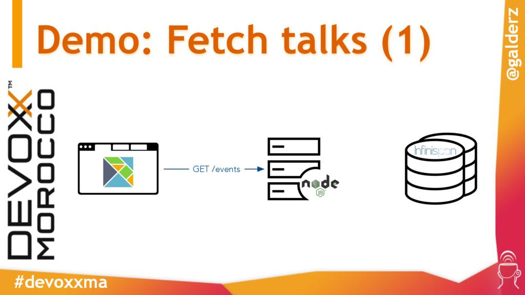 Demo: Fetch talks (1) #devoxxma @galderz GET /e...