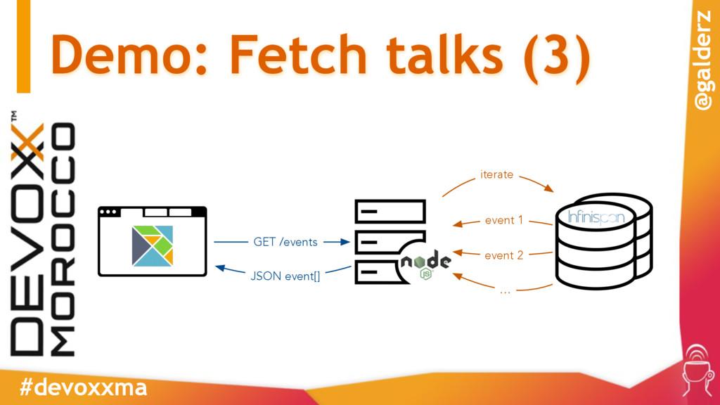 Demo: Fetch talks (3) #devoxxma @galderz GET /e...