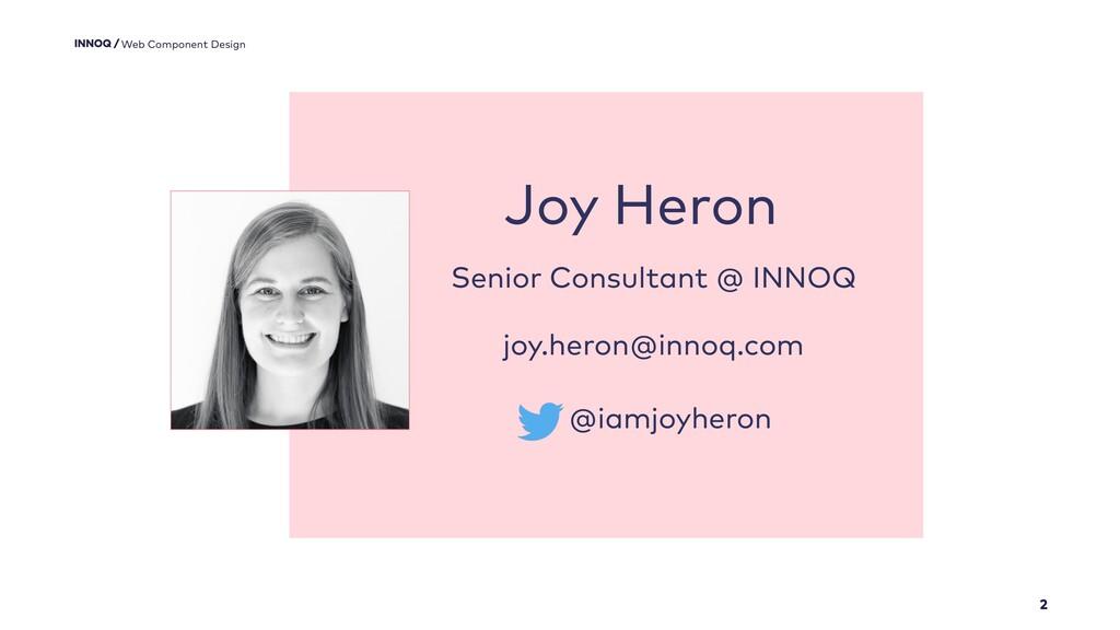 2 Web Component Design Joy Heron Senior Consult...