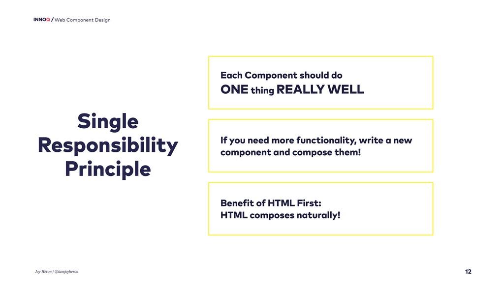 12 Web Component Design Single Responsibility P...