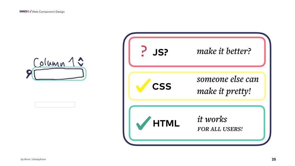 25 Web Component Design Joy Heron / @iamjoyhero...