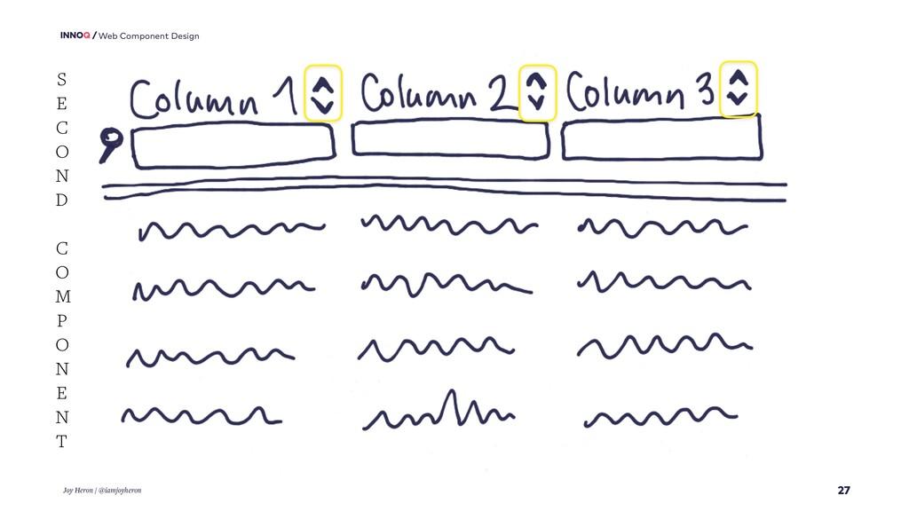 27 Web Component Design Joy Heron / @iamjoyhero...
