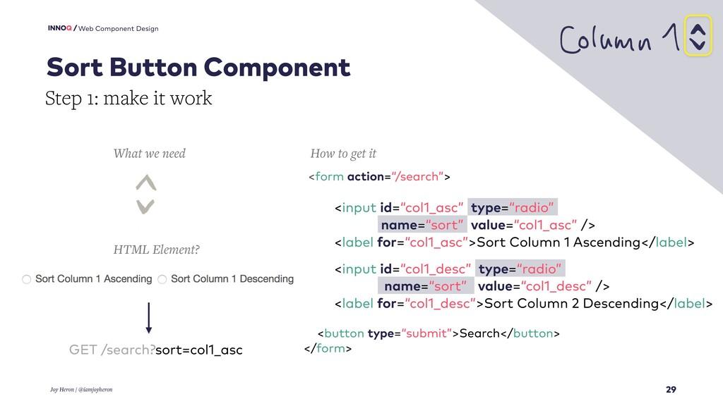 29 Web Component Design Sort Button Component J...
