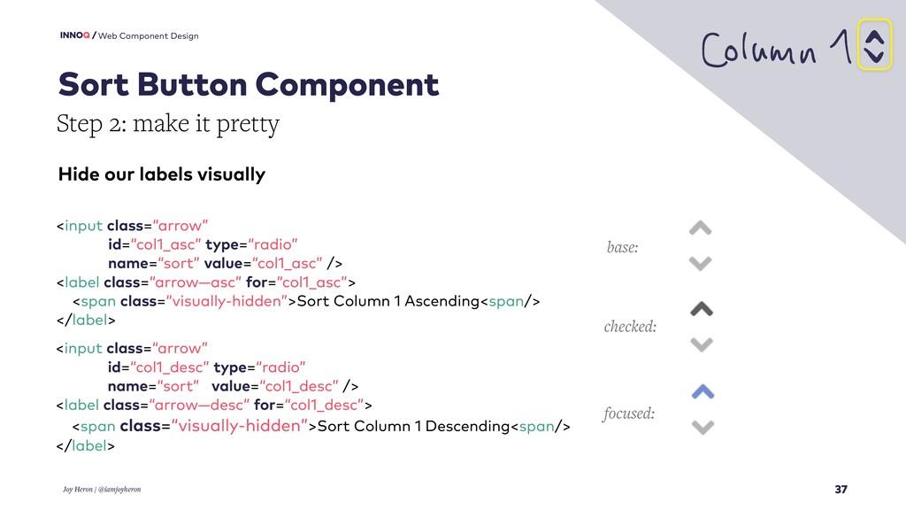 37 Web Component Design Joy Heron / @iamjoyhero...