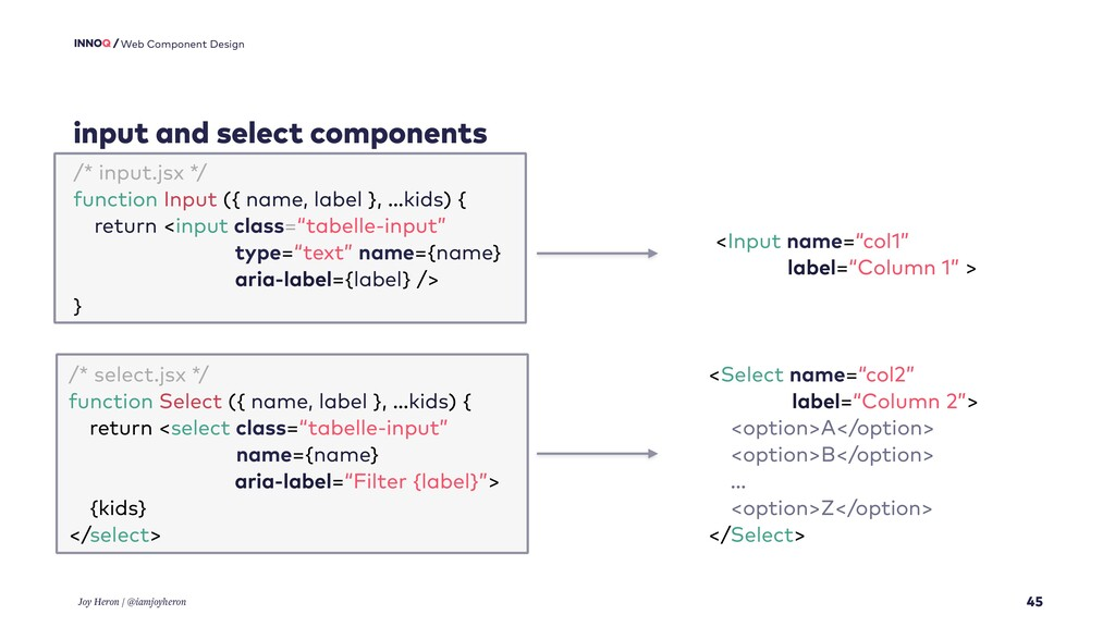 input and select components 45 Web Component De...