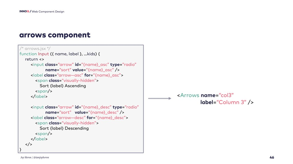 arrows component 46 Web Component Design Joy He...