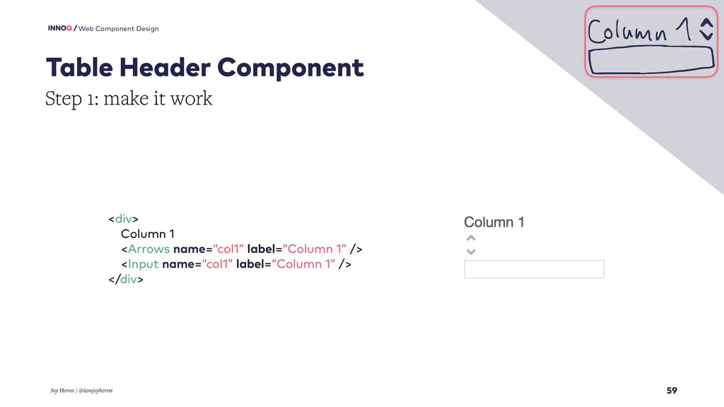 59 Web Component Design Table Header Component ...