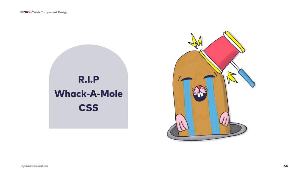 R.I.P Whack-A-Mole CSS 66 Web Component Design ...