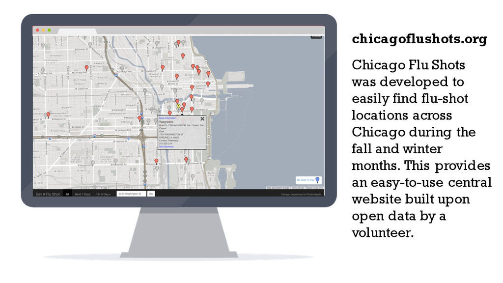 Chicago Flu Shots was developed to easily find ...