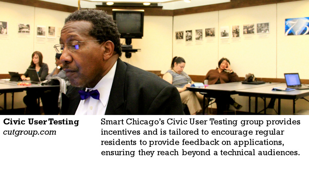 Smart Chicago's Civic User Testing group provid...