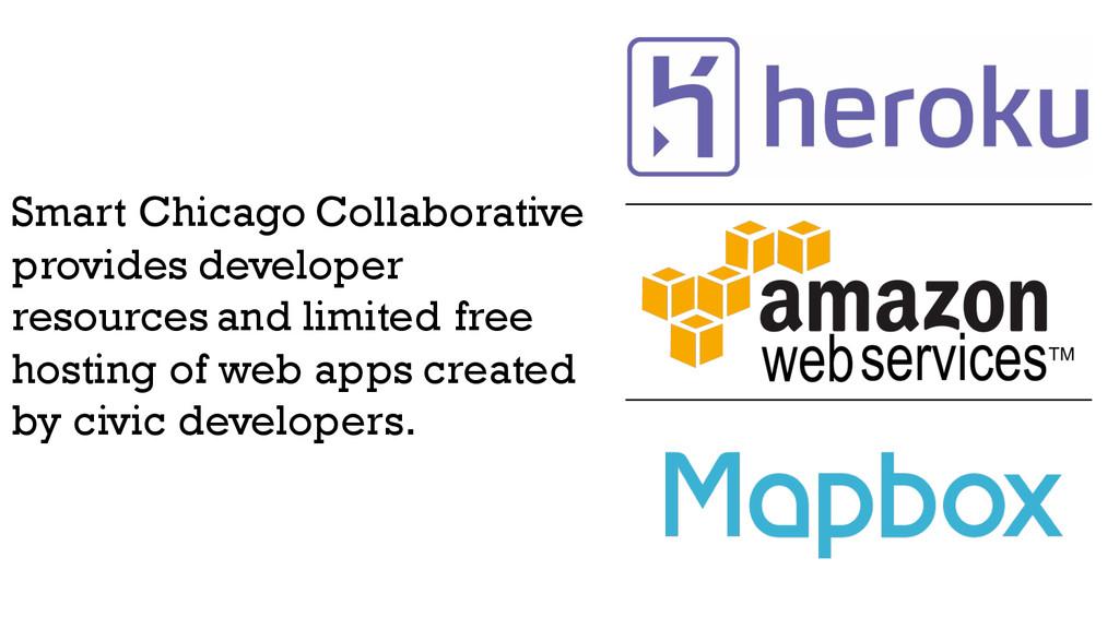 Smart Chicago Collaborative provides developer ...