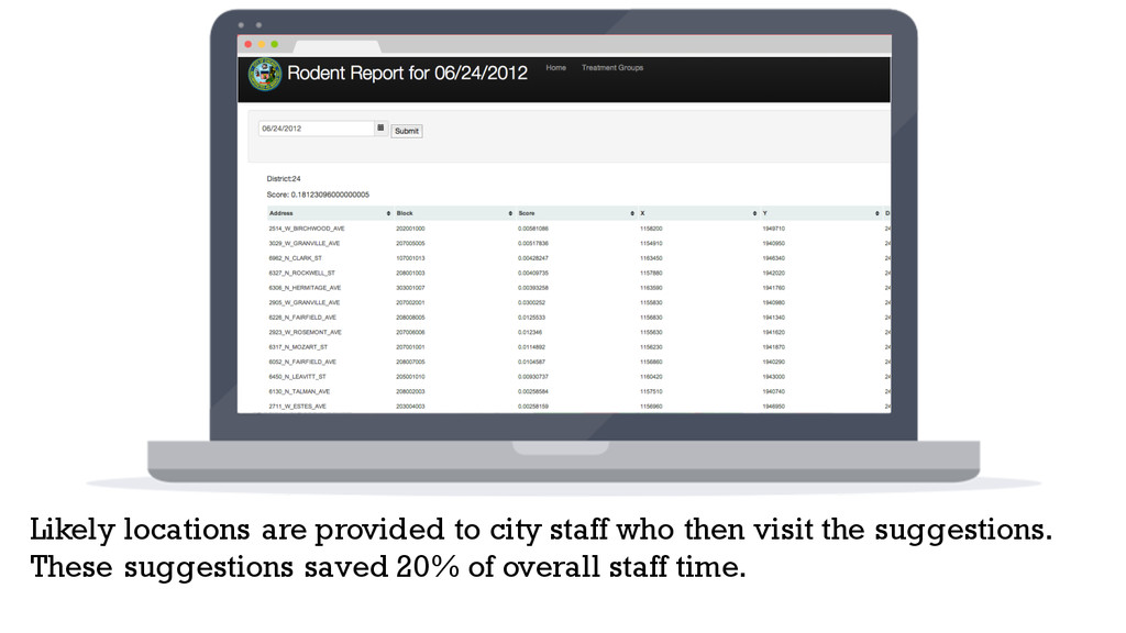 Likely locations are provided to city staff who...