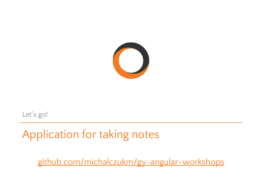 Application for taking notes Let's go! github.c...