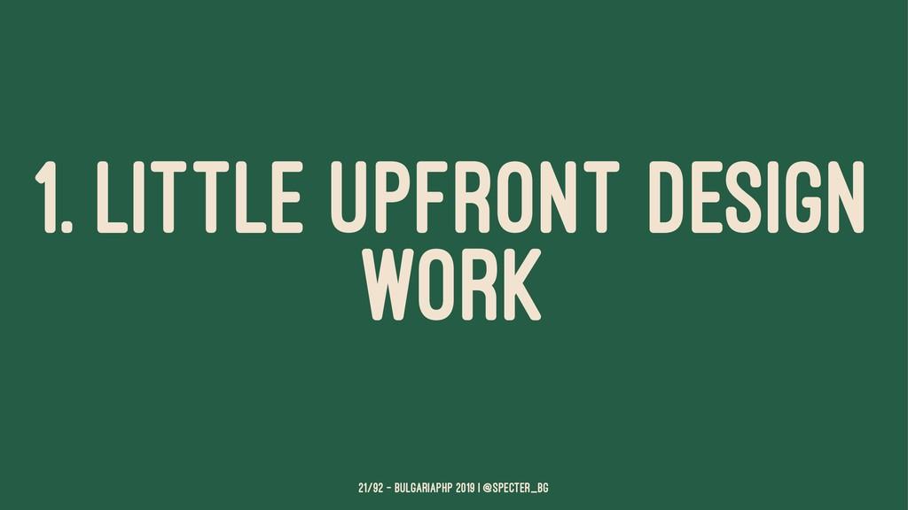 1. LITTLE UPFRONT DESIGN WORK 21/92 — BulgariaP...