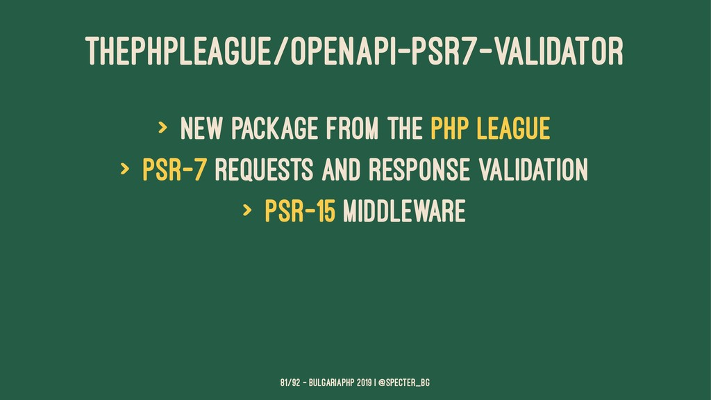 THEPHPLEAGUE/OPENAPI-PSR7-VALIDATOR > new packa...