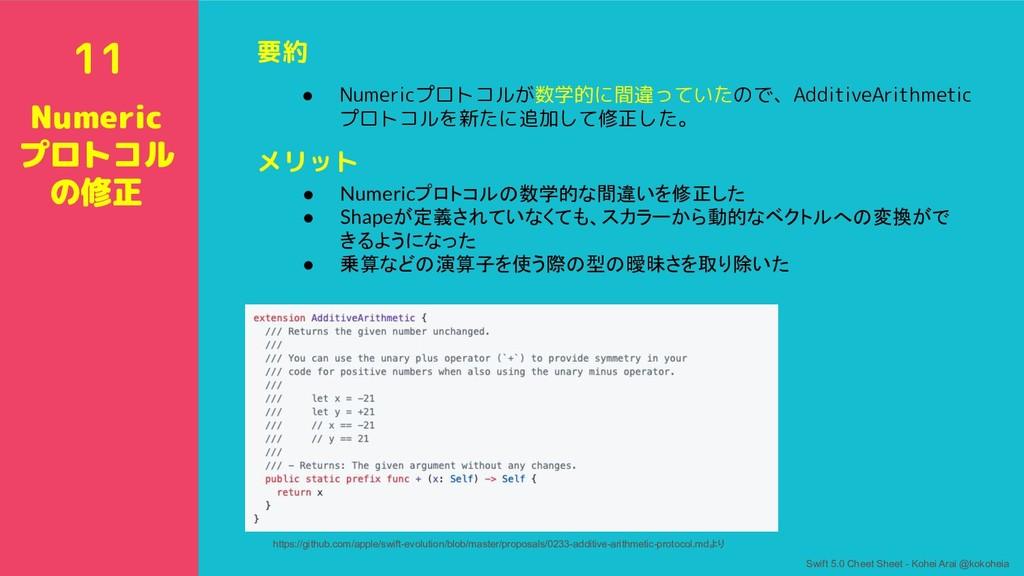 要約 ● Numericプロトコルが数学的に間違っていたので、AdditiveArithmet...