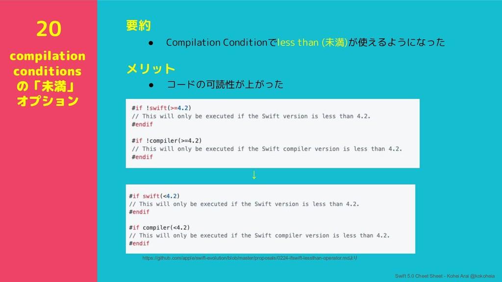 要約 ● Compilation Conditionでless than (未満)が使えるよう...