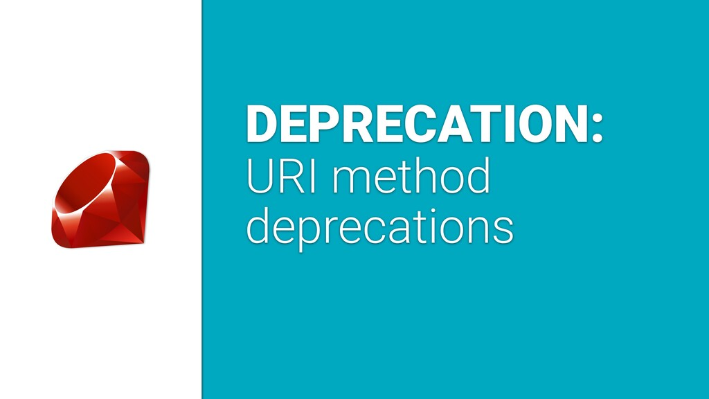 DEPRECATION: URI method deprecations