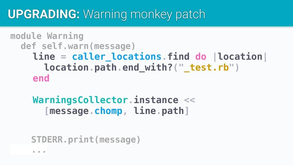 module Warning def self.warn(message) line = ca...