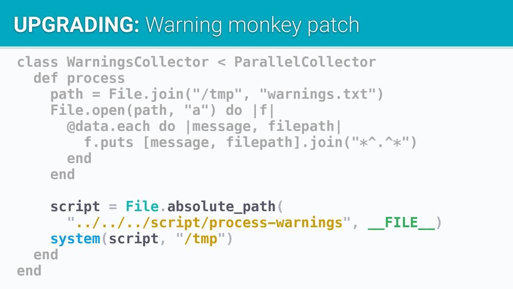class WarningsCollector < ParallelCollector def...