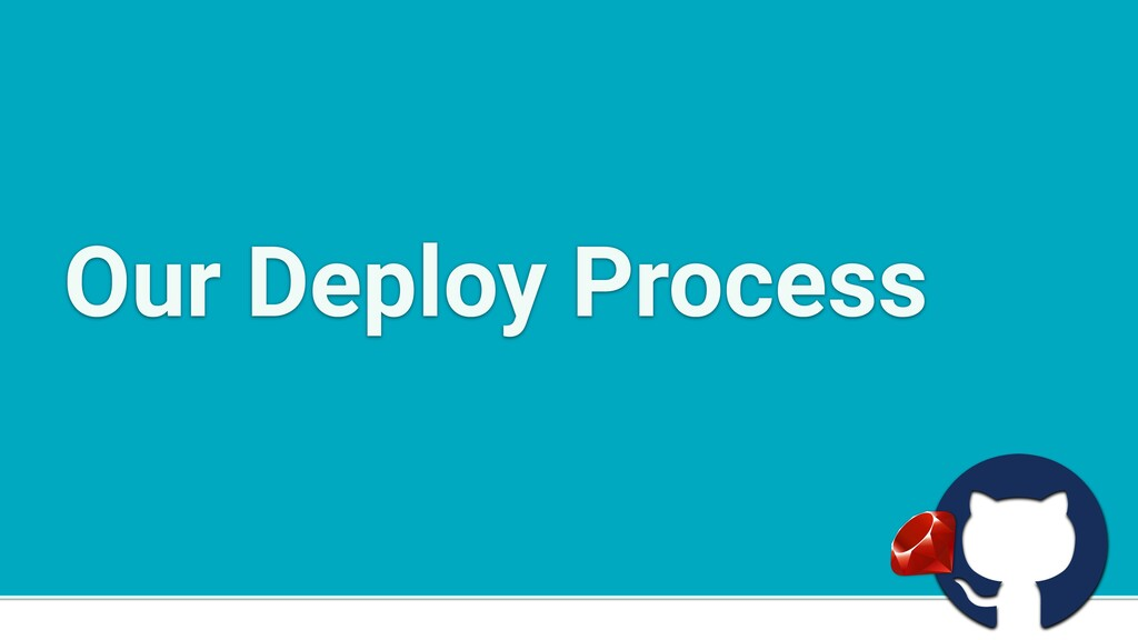 a Our Deploy Process