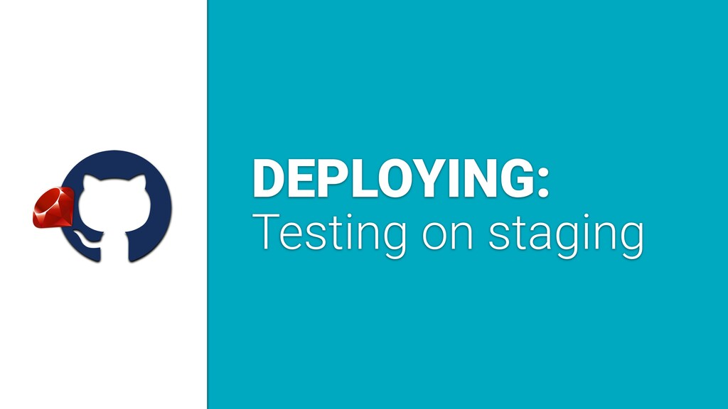 a DEPLOYING: Testing on staging