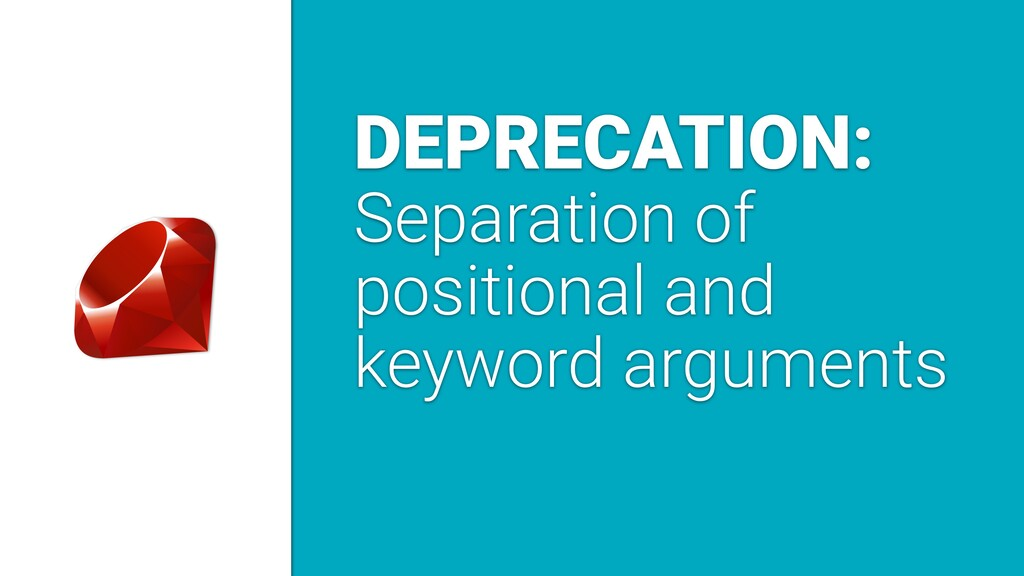 DEPRECATION: Separation of positional and keywo...