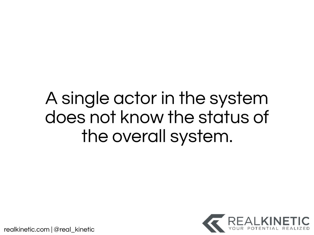 realkinetic.com | @real_kinetic A single actor ...