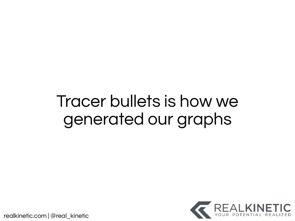 realkinetic.com | @real_kinetic Tracer bullets ...