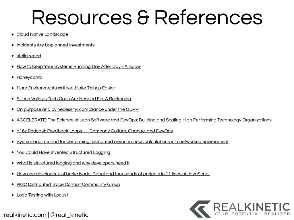 realkinetic.com | @real_kinetic Resources & Ref...