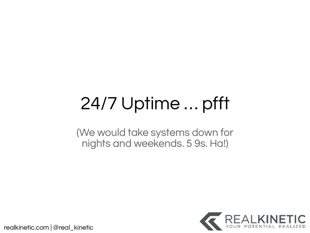 realkinetic.com | @real_kinetic 24/7 Uptime … p...