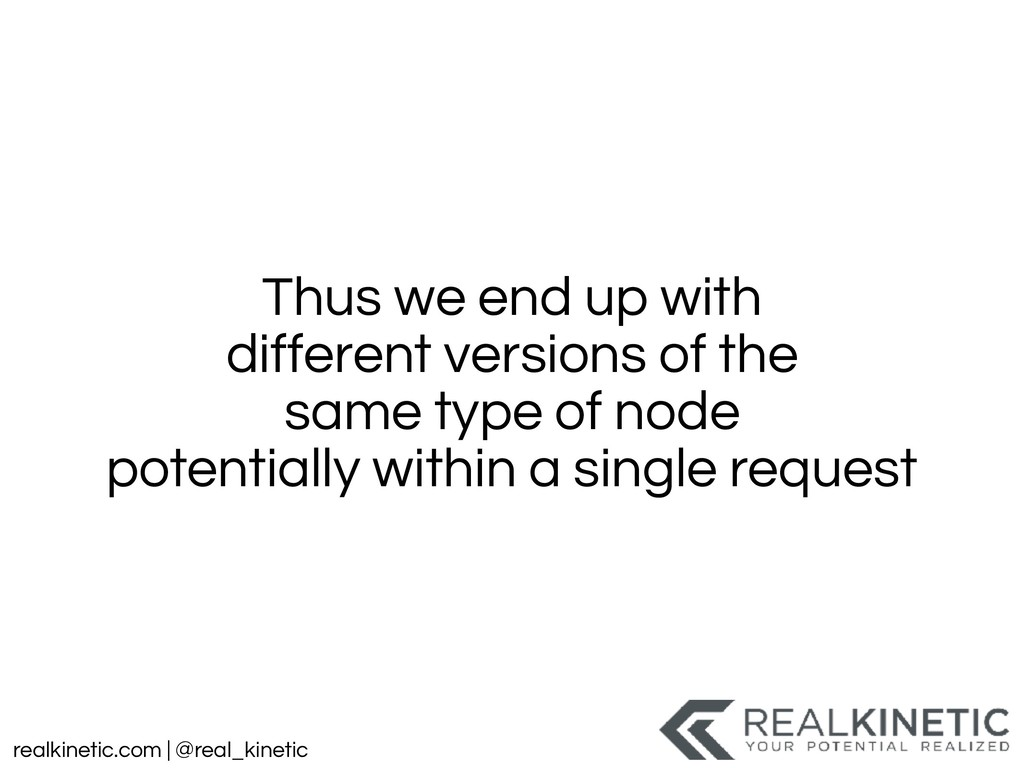 realkinetic.com | @real_kinetic Thus we end up ...