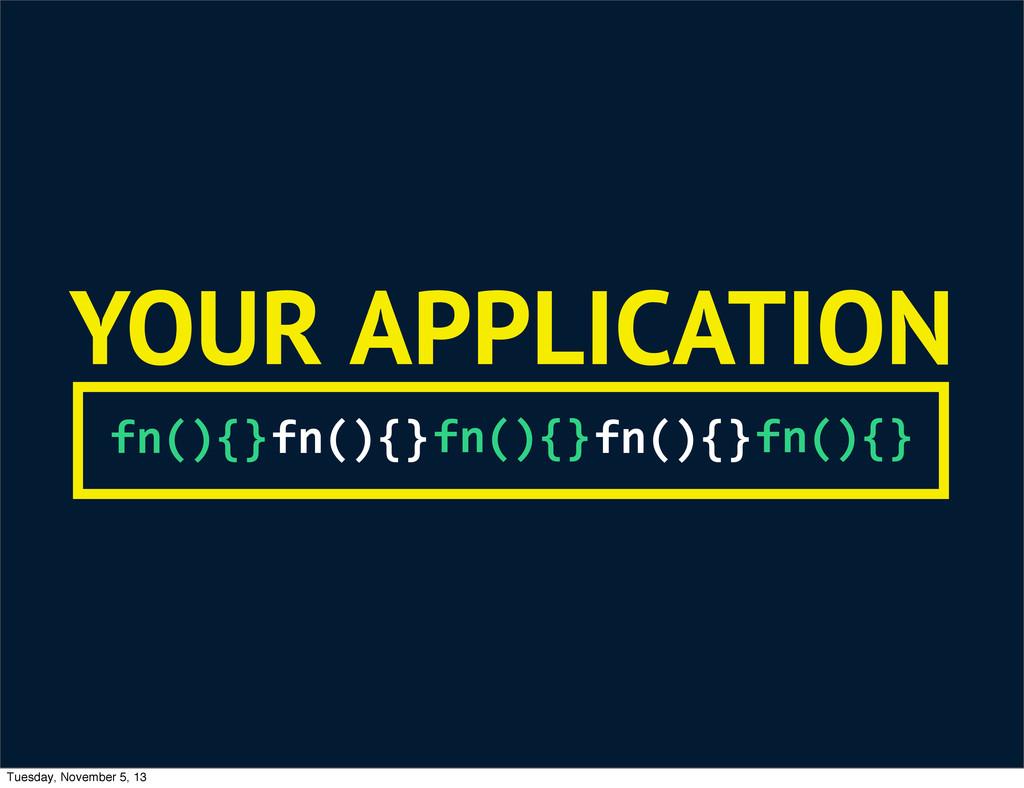 fn(){} fn(){} fn(){} fn(){} fn(){} YOUR APPLICA...