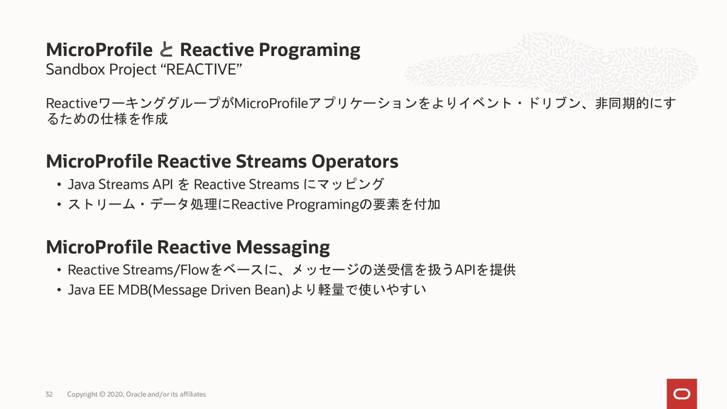 "Sandbox Project ""REACTIVE"" ReactiveワーキンググループがMi..."